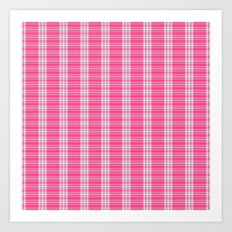 Pink Plaid [Three] Art Print