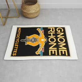 1935 Gnome Rhone Motocyclettes Poster Rug