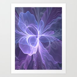 Abstract Art, Purple Fantasy Fractal Art Print