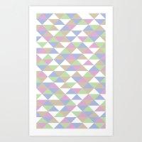 Triangle Pattern #3 Art Print