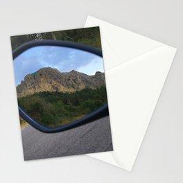 la montagna in uno specchio Stationery Cards