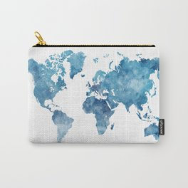 World map in watercolor. Carry-All Pouch