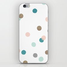 Confetti Dots iPhone & iPod Skin