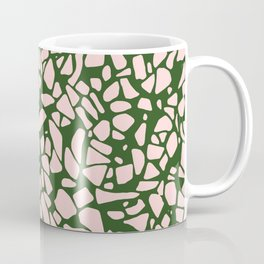 Stone Pattern - Salmon Pink & Olive Green Coffee Mug
