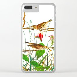 Savannah Finch Bird Clear iPhone Case