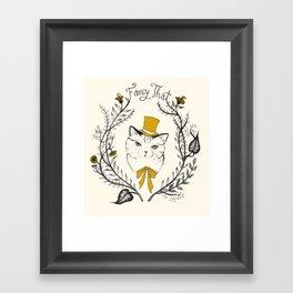 Fancy That, Top Hat Cat Framed Art Print