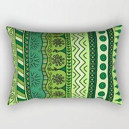 Yzor pattern 003 green Rectangular Pillow
