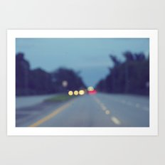 Blurry Road Art Print