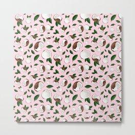Coconut pencil drawing pink Metal Print
