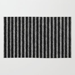 Black and White Silver Fox Fur Pattern Rug
