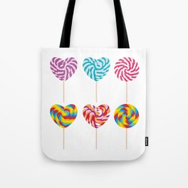 lollipops, colorful spiral candy cane with twisted design Tote Bag