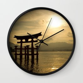 Sunset at Miyajima Wall Clock