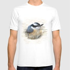 Red-breasted Nuthatch Mens Fitted Tee X-LARGE White