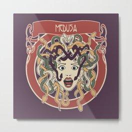 foolish medusa (purple) Metal Print
