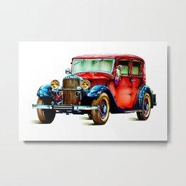 Vintage automobile retro fineart Metal Print