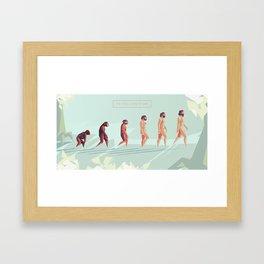 Evolution of Man Framed Art Print