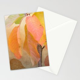 Painterly fall leaves Stationery Cards