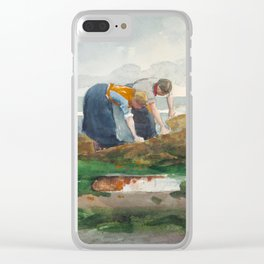Winslow Homer - The Mussel Gatherers, 1881 Clear iPhone Case