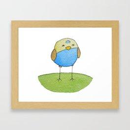 Blue Birdie Framed Art Print