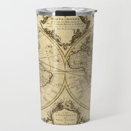1720 Old World Map Historic Map Antique Style World Map Guillaume de L'Isle mappe monde Wall Map Travel Mug