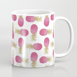 Ombre Pink Illustrated Pineapple Coffee Mug