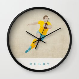 SUMMER GAMES / Rugby Wall Clock