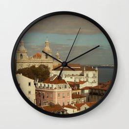 Lisboa from Castelo de Sao Jorge Wall Clock