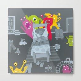 kid and ghosts Metal Print