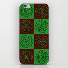 Navidad Bicolor a Cuadros 2 iPhone Skin