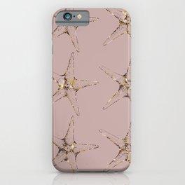 Rose gold starfish iPhone Case