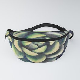 Green & yellow succulent Fanny Pack