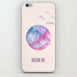 Dream On Watercolor Poster iPhone Skin
