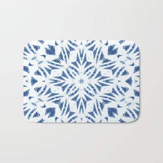 Arrowhead Denim White Bath Mat