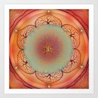 chakra Art Prints featuring Sacral Chakra by brenda erickson