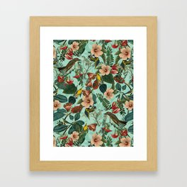 FLORAL AND BIRDS XIII Framed Art Print