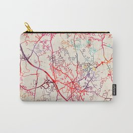 Franklin map Massachusetts MA Carry-All Pouch