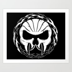 Skull Head Three Art Print