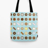 donuts Tote Bags featuring Donuts by Dorothy Leigh