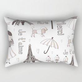 Paris Girl Rectangular Pillow