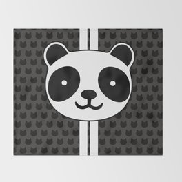 Racing Panda Throw Blanket