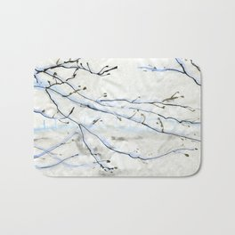 Winter sakura Bath Mat