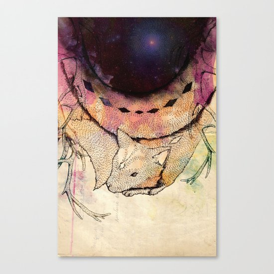 Black Hole in the Woods Canvas Print