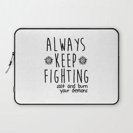 Keep Fighting Laptop Sleeve