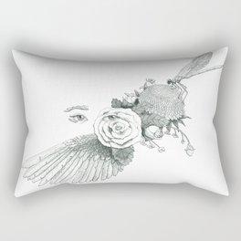 Dreams of Flight and Flowers  Rectangular Pillow