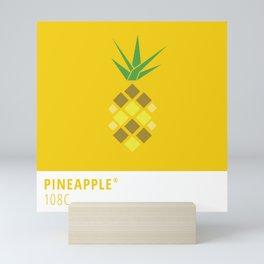 Pineapple Pantone Illustration Mini Art Print