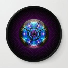 Fibonacci Flower Mandala Wall Clock