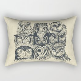 Nine Owls Rectangular Pillow