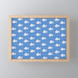 Happy Fishes Framed Mini Art Print