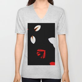 Abstract Of Bits And Pieces Unisex V-Neck