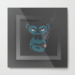 Angry Smoked Gorilla Metal Print